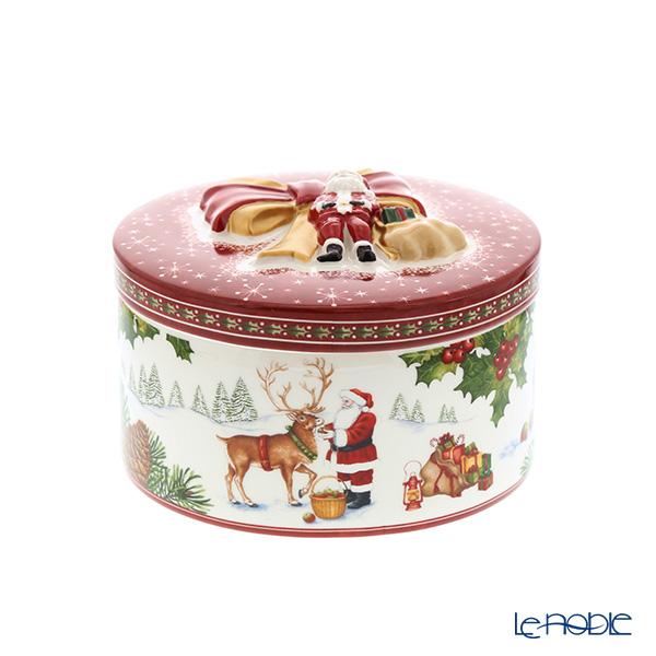 ビレロイ&ボッホ(Villeroy&Boch) クリスマストイズ サンタウィズレインディア 10cm 6624 小物入れ