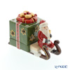 Villeroy & Boch Christmas Light Decolight:Santa Sleigh w/Green Gift Box (Candle Holder) 6300