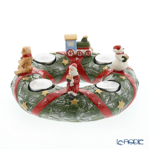 ビレロイ&ボッホ(Villeroy&Boch) クリスマストイズメモリーアドベントリース キシャ 9417 キャンドルホルダー