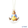 Villeroy & Boch 'Bunny Tails - Max (Boy)' Blue Easter Ornament (Rabbit in Egg Shesll)