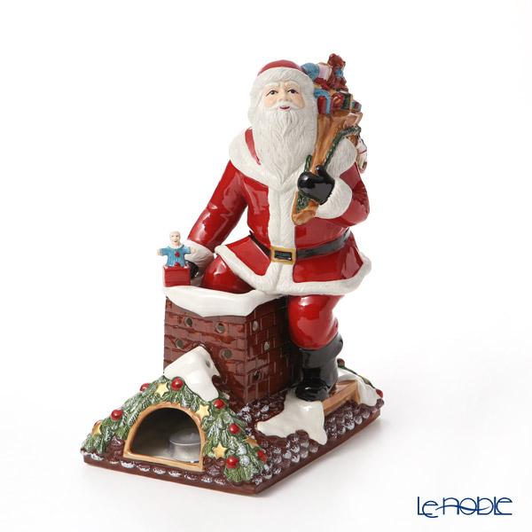 ビレロイ&ボッホ(Villeroy&Boch) クリスマストイズメモリーオルゴール付キャンドルホルダー サンタオンルーフ 32cm 6548