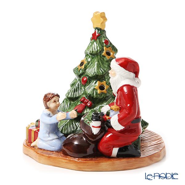Villeroy & Boch 'Christmas Toys - Lantern Distributing Presents / Santa with Girl (Tree)' 6640 Tea Light Candle Holder H13.5cm