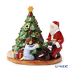 Villeroy & Boch 'Christmas Toys - Lantern Distributing Presents / Santa with Girl (Tree)' 6640 Tea Light Candle Holder H13.5cm