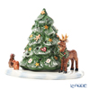 Villeroy & Boch 'Christmas Toys -  Christmas Tree with Forest Animals' 6648 Tea Light Candle Holder H16.5cm