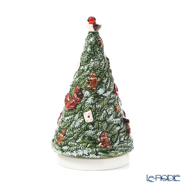 ビレロイ&ボッホ(Villeroy&Boch)ノスタルジックメロディー オルゴール 〜ホワイトクリスマス〜 クリスマスツリー 9cm 6305