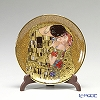 Goebel Klimt the kiss 66512195 With a decorated plate 10 cm mini plate plate stand