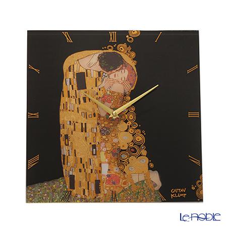ゲーベル(GOEBEL) クリムト 接吻 66886813 ガラス時計 30.5×30.5cm