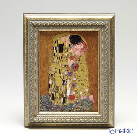 ゲーベル(GOEBEL) クリムト 接吻 66534637 陶板 額付 16×19.5cm