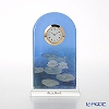 Goebel 'Claude Monet - Evening Flowers' Glass Desk Clock H18cm
