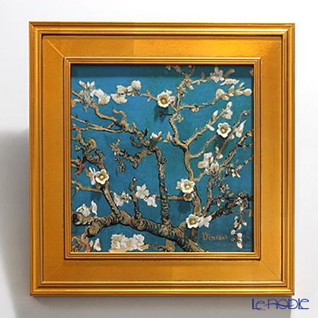 ゲーベル(GOEBEL) ゴッホ 花咲くアーモンドの枝 66534447陶板 額付 47×47cm 世界限定生産199点