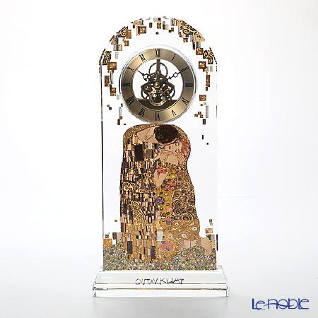 ゲーベル(GOEBEL) クリムト 接吻 66879826 デスククロック(ガラス時計) H32cm