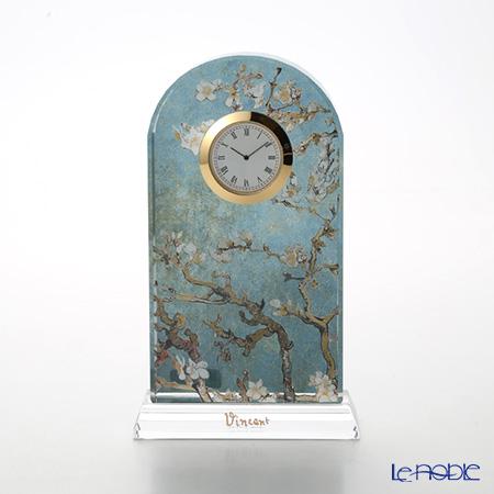 ゲーベル(GOEBEL) ゴッホ 花咲くアーモンドの枝 66523341 デスククロック(ガラス時計) H18.5cm