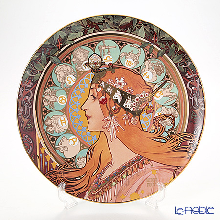ゲーベル(GOEBEL) ミュシャ ゾディアック 66489341プレート/飾り皿 36cm