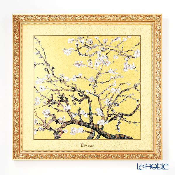 ゲーベル(GOEBEL) ゴッホ 花咲くアーモンドの枝 ゴールド 66534711 陶板 額付 68×68cm