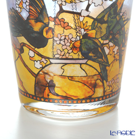 Goebe 'Louis Comfort Tiffany - Parakeets' Candle Holder H9.5cm