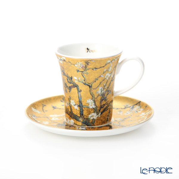 Goebel 'Vincent Van Gogh - Almond Tree' Gold Demitasse Cup & Saucer 100ml