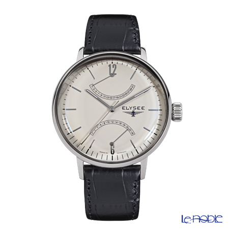 Elysee Sithon - Men's Watch Quartz, GMT Function, Black leather strap 13270