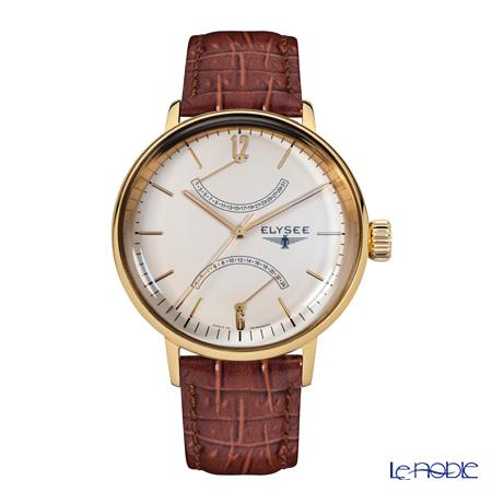 Elysee Sithon - Men's Watch Quartz, GMT Function, Goldplated case 13271