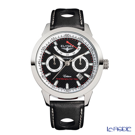 Elysee Taffy 1 - Men's Watch Automatic, Multifunction, Power reserve, leather strap (race driver design) 17011