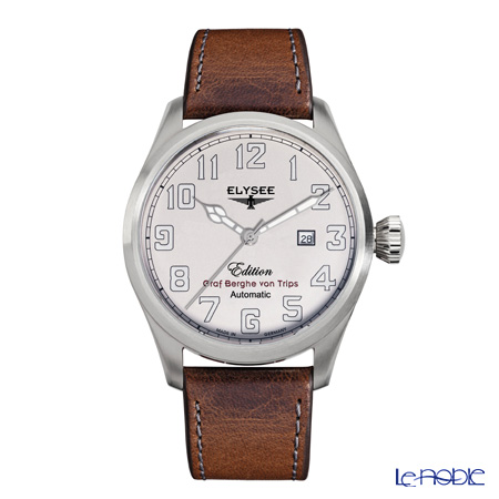 Elysee Hemmersbach - Men's Watch Automatic, Date Function, leather strap 38010