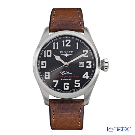 Elysee Hemmersbach - Men's Watch Automatic, Date Function, leather strap 38011