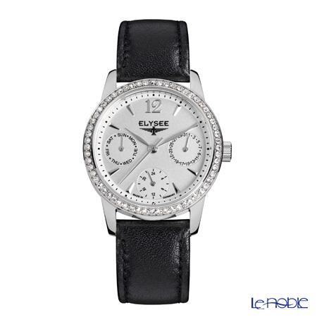 Elysee Scarlett - Ladies Watch Quartz, Multifunction, Black leather strap 13274B