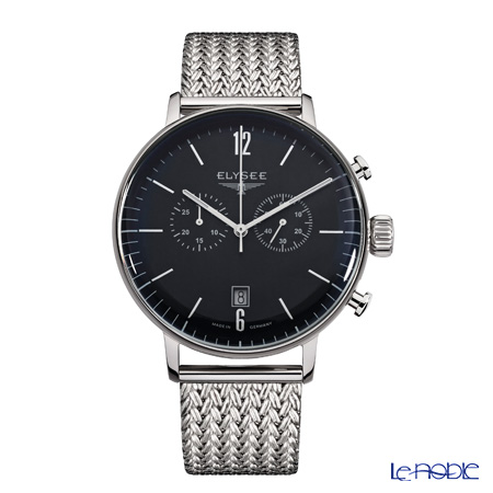 Elysee Stentor - Men's Watch Quartz, Chronograph multifunction, Black dial, Milanese strap 13277M