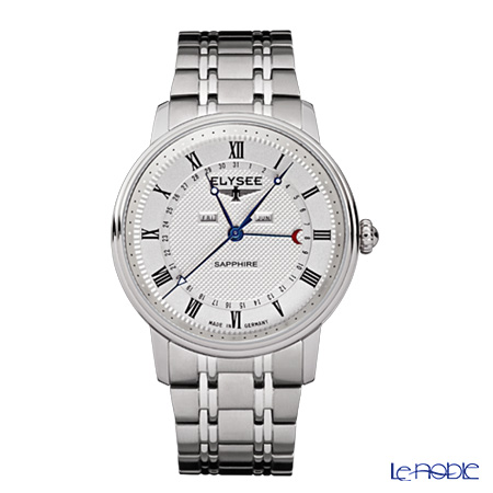 Elysee Monumentum Calendar - Men's Watch Quartz, Multifunction (Day, Date, Month), Stainless steel band 77000