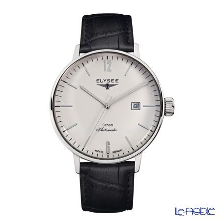 Elysee Sithon Automatik - Men's Watch Automatic, Date function, Black leather strap 13280