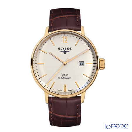 Elysee Sithon Automatik - Men's Watch Automatic, Date function, Gold plated case 13281