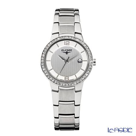 Elysee Nora - Ladies Watch Quartz, 52 Swarovski crystals, Stainless steel case & band, 33045