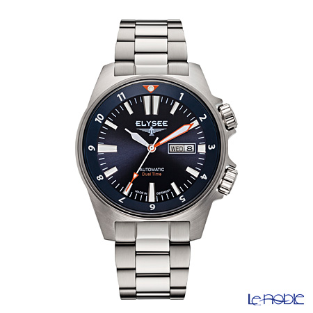 Elysee Dual Timer - Men's Watch Automatic, Day-Date function, 10 ATM, Stainless steel 87002