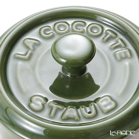 ストウブ(staub) ココットラウンド(セラミック製)10cm/0.2L バジルグリーン