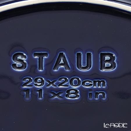 Staub 'Baking' Dark Blue [Ceramic] Oval Dish 29x20cm 2200ml