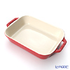 Staub ( staub  rectangular dish (made of ceramic) 27 x 90cm/9.4l cherry