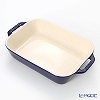 Staub (staub) rectangular dish (ceramic) 27 x 20cm/2.4L Grand blue
