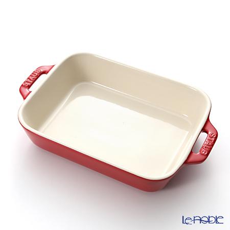 Staub ( staub  rectangular dish (made of ceramic) 20 x 16cm/1.1L cherry