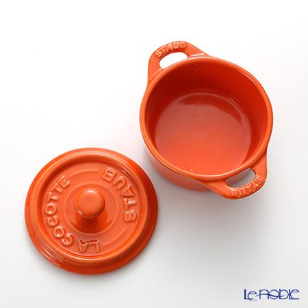 staubcocotte round (made of ceramic) 10cm/0.2L Orange