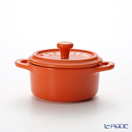 ストウブ(staub) ココットラウンド(セラミック製) 10cm/0.2L オレンジ