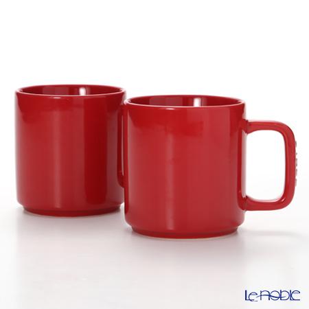 ストウブ(staub) マグカップ(セラミック製)7.8cm/0.2L チェリー 2pcsセット