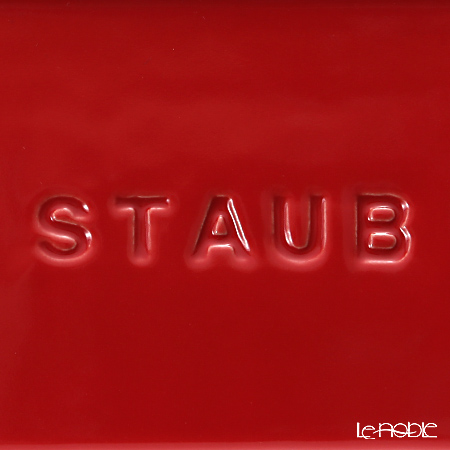 ストウブ(staub) レクタンギュラーディッシュ(セラミック製)14×11cm/0.4L チェリー