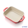 Staub ( staub  rectangular dish (made of ceramic) 14 x cherry 11cm/0.4L