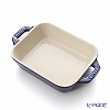 Staub ( staub  rectangular dish (made of ceramic) 14 x 11cm/0.4L Grand blue