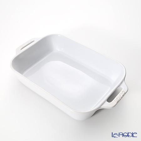 ストウブ(staub) レクタンギュラーディッシュ(セラミック製) 20×16cm/1.1L ホワイト