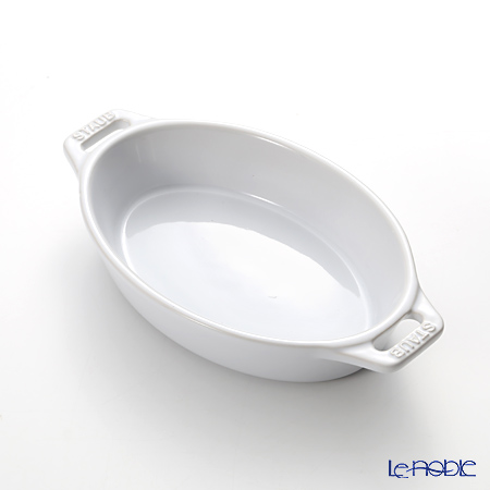 ストウブ(staub) オーバルディッシュ(セラミック製) 17cm/0.4L ホワイト