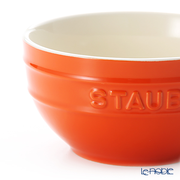 ストウブ(staub) ボウル(セラミック製)14cm オレンジ