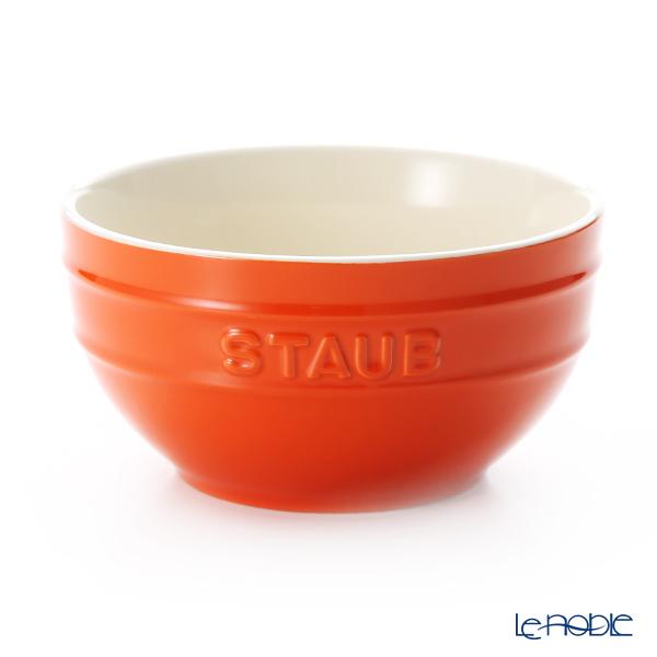 ストウブ(staub) ボウル(セラミック製) 14cm オレンジ