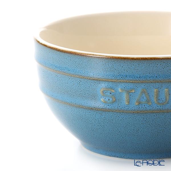 Staub (staub) Bowl (ceramic) 14 cm vintage Color Turquoise.