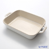 Staub (staub) rectangular dish (ceramic) It's vintage color ivory 20 cm
