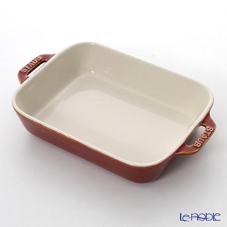 Staub 'Baking' Copper Red [Ceramic] Rectangular Dish 20.5x15.5cm 1100ml